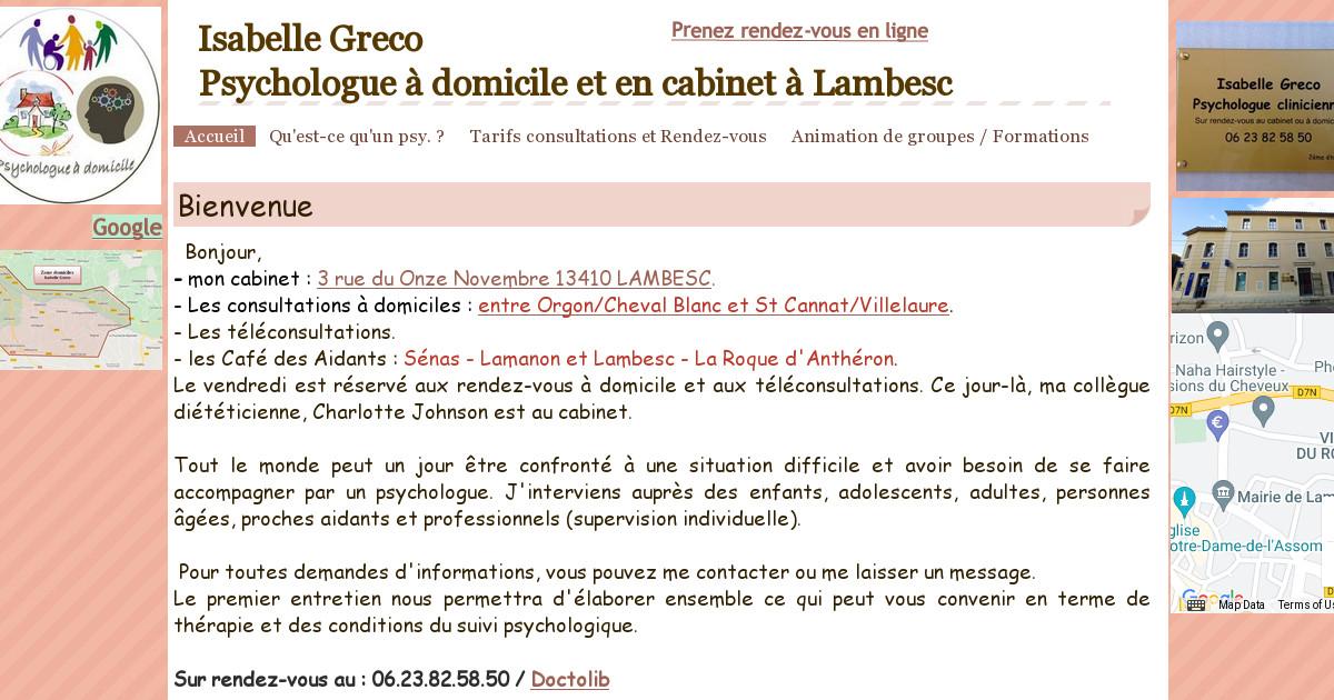 Isabelle Greco Psychologue A Domicile Et A Saint Ismier